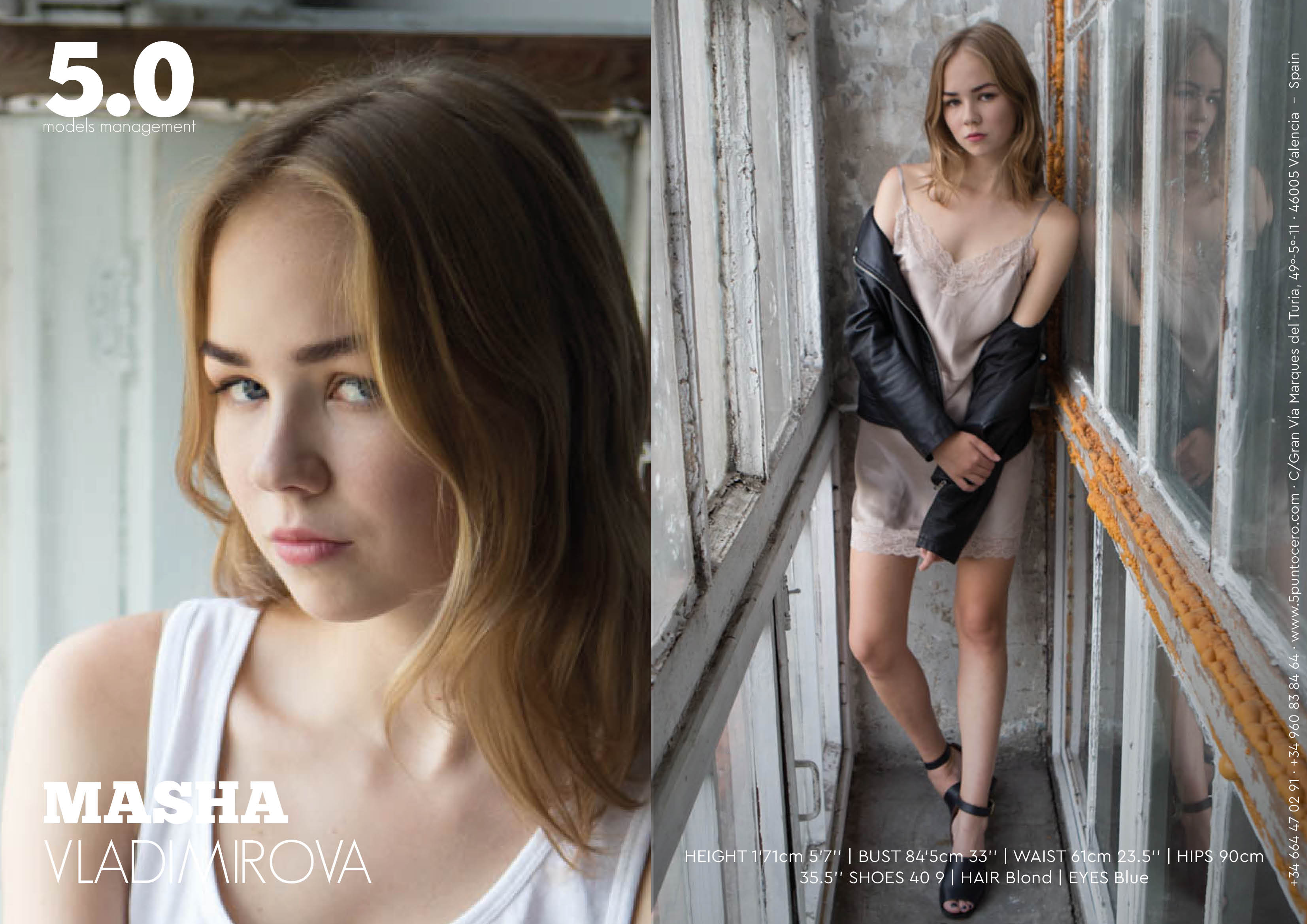 masha vladimirova cinco punto cero agencia modelos valencia